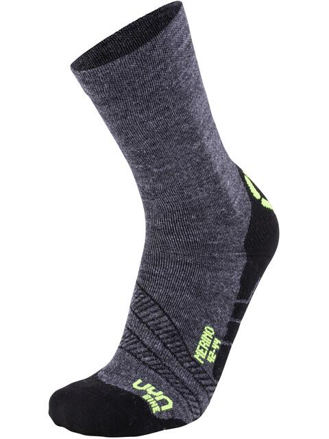 UYN Cycling Merino Socks Men Anthracite/Yellow Fluo